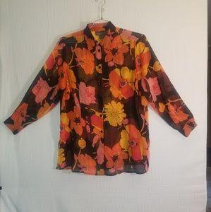 Lane Bryant shear button up shirt